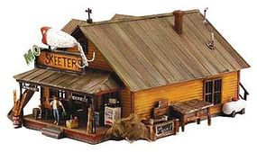 Woodland MO Skeeters Bait/Tackle Pre-Fab Kit HO Scale Model Railroad Building #pf5194