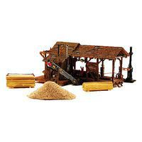Woodland Buzz's Sawmill HO Scale Model Railroad Building #pf5195