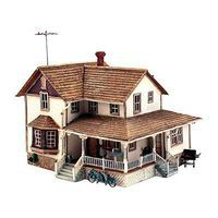 Woodland Corner Porch House HO Scale Model Railroad Building #pf5196