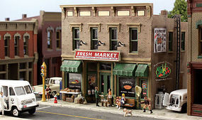Woodland Pre-Fab Fresh Market N Scale N Scale Model Railroad Building #pf5200