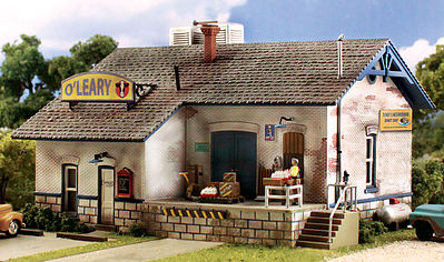 Woodland Scenics Pre Fab O'Leary Dairy Distribution N Scale -- N Scale Model Railroad Building -- #pf5205