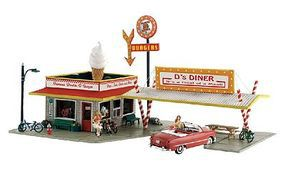 Woodland Pre Fab Ds Diner N Scale N Scale Model Railroad Building #pf5208