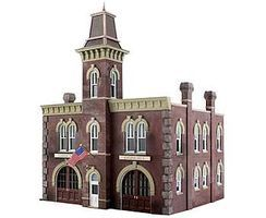 Woodland Fire Station No. 3 Pre-Fab Kit N Scale Model Railroad Building #pf5212