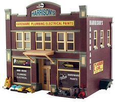 Woodland Harrisons Hardware O Scale O Scale Model Railroad Building #pf5891