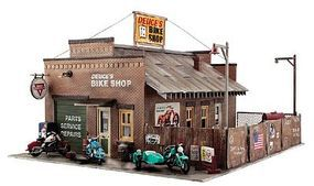 Woodland Deuces Bike Shop O Scale O Scale Model Railroad Building #pf5895