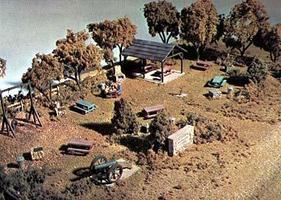 Woodland Memorial Park HO Scale Complete Scene Kit HO Scale Model Railroad Building #s132