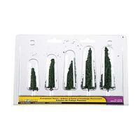Woodland Scene-A-Rama Evergreen Trees 5/pk (2-3 1/2)