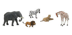 Woodland Scene-A-Rama Scene Setters African Wildlife Animals (5pcs)