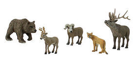 Woodland Scene-A-Rama Scene Setters North American Widlife Animals (5pcs)