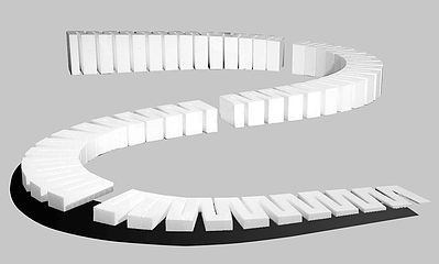 Woodland Scenics 4% Incline Sets 2' each (4) 8' Total -- Model Railroad Foam -- #st1411