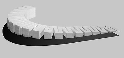 Woodland Scenics 4% Incline Starter 2.5'' x 2' each (4) -- Model Railroad Foam -- #st1413