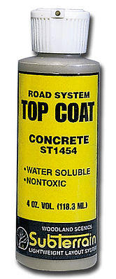 Woodland Scenics Top Coat Concrete 4 oz -- Model Railroad Scenery Supply -- #st1454