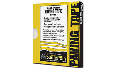 Woodland Paving Tape 1/4 x30 Model Railroad Scenery Supply #st1455