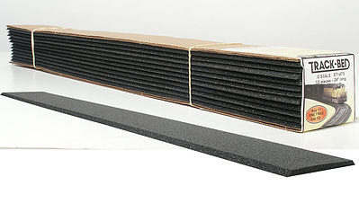 Woodland Scenics Track-Bed 5mmx2' (12) O Scale -- O Scale Model Train Track Roadbed -- #st1473