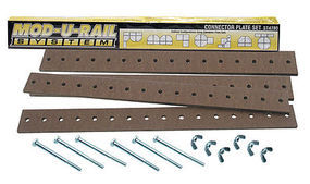 Woodland Mod-U-Rail Connector Plate Set Model Railroad Scratch Supply #st4780