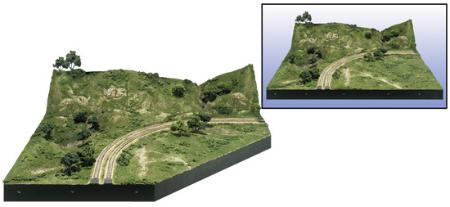 Woodland Scenics MOD-U-RAIL CORNER KIT -- HO Scale -- Model Railroad Scenery Supply -- #st4802