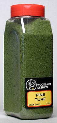 Woodland Scenics Turf Fine Green Grass 32 oz -- Model Railroad Grass Earth -- #t1345