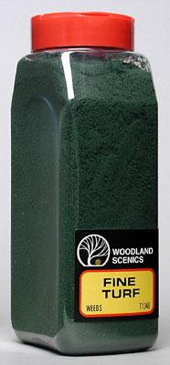 Woodland Turf Fine Weeds 32 oz Model Railroad Grass Earth #t1346