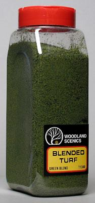 Woodland Turf Fine Blended Green 32 oz Model Railroad Grass Earth #t1349