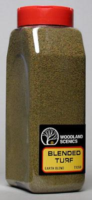 Woodland Scenics Turf Fine Blended Earth 32 oz -- Model Railroad Grass Earth -- #t1350