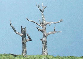 Woodland Metal Tree Trunk Armature Kit Dead Trees (5) Model Railroad Tree #tk22