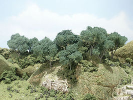 Woodland Hardwood Forest Trees 2 - 4 (24) Model Railroad Tree #tk28