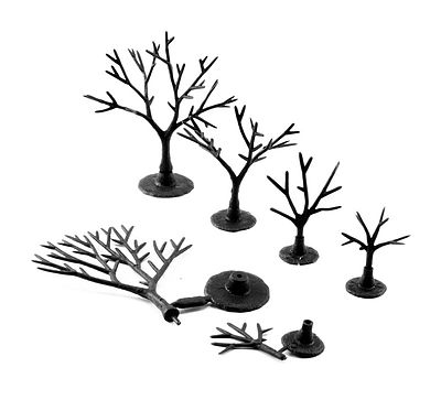 "12 Deciduous Trees Woodland Scenics TR1123 5/""-7/"" Tree Armatures"