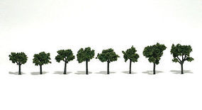 Scenic Accents Assembled Tree Med Green .75'' -1.25'' (8) Model Railroad Tree #tr1501