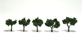 Woodland Scenic Accents Assembled Tree Med Green 1.25 -2 (5) Model Railroad Tree #tr1502