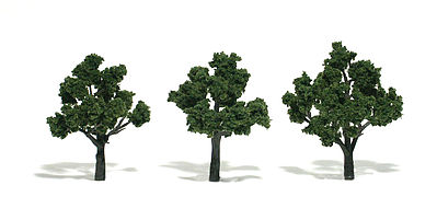Woodland Scenic Accents Assembled Tree Medium Green 3-4 (3) Model Railroad Tree #tr1507