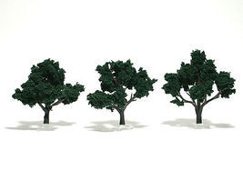 Woodland Scenic Accents Assembled Tree Dark Green 3-4 (3) Model Railroad Tree #tr1508