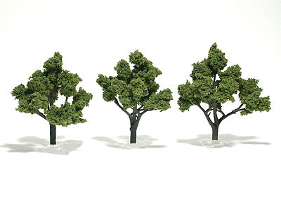 Woodland Scenic Accents Assembled Tree Light Green 4-5 (3) Model Railroad Tree #tr1509