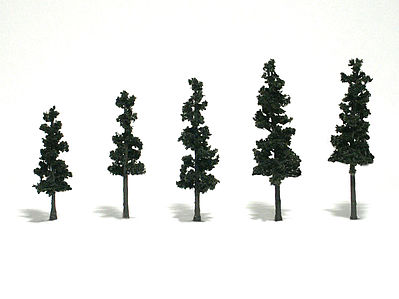 Woodland Scenic Accents Assembled Conifer Pine Green 2-1/2 - 4 (5) Model Railroad Tree #tr1560