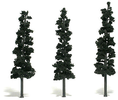 Woodland Scenic Accents Assembled Conifer Pine Green 7-8 (3) Model Railroad Tree #tr1563