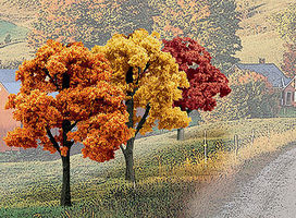 Woodland Ready Made Trees Value Pack Fall Deciduous Trees 3-5 (14) Model Railroad Tree #tr1577