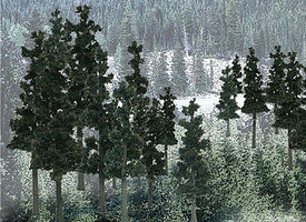 Woodland Ready Made Trees Value Pack Conifer Pine Trees 2.5-4 (33) Model Railroad Tree #tr1580