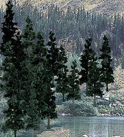 Woodland Ready Made Trees Value Pack Conifer Pine Trees 4-6 (24) Model Railroad Tree #tr1581