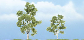 Woodland Premium Trees 2-7/8 & 2-3/8 Sycamore (2) Model Railroad Tree #tr1603