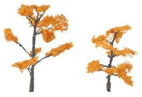 Woodland Premium Trees 3-1/2 & 2-5/8 Fall Maple (2) Model Railroad Tree #tr1604