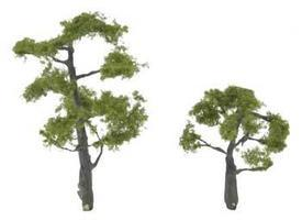 Woodland Premium Trees 3-1/4 & 2 Locust (2) Model Railroad Tree #tr1607