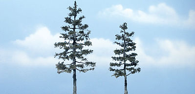 Woodland Scenics Ready Made Premium Trees -- Pine -- 1 Each -- 5-1/8 & 4-1/2'' -- Model Railroad Tree -- #tr1624