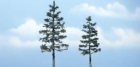 Woodland Ready Made Premium Trees Pine 1 Each 5-1/8 & 4-1/2 Model Railroad Tree #tr1624