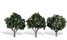 Woodland Cool Shade Trees 3 - 4 (3) Model Railroad Trees #tr3508