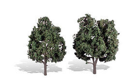 Woodland Cool Shade Trees 5 - 6 (2) Model Railroad Trees #tr3514