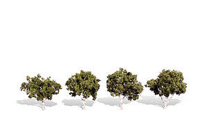 Woodland Waters Edge Trees 2 - 3 (4) Model Railroad Trees #tr3533