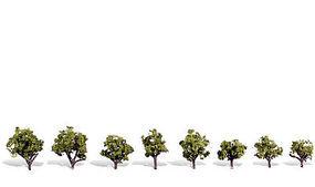 Woodland Early Light Trees 3/4 - 1 1/4 (8) Model Railroad Trees #tr3545