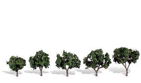 Woodland Cool Shade Trees 1 1/4 - 2 (5) Model Railroad Trees #tr3548