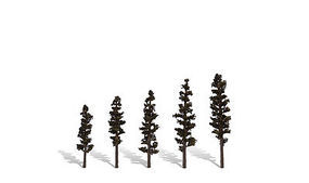 Woodland Standing Timber Trees 2 1/2 - 4 (5) Model Railroad Trees #tr3560
