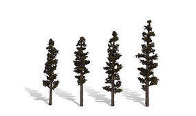 Woodland Standing Timber Trees 4 - 6 (4) Model Railroad Trees #tr3561