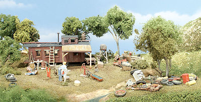 Woodland Scenics Possum Hollow HO Scale Kit -- HO Scale Model Railroad Building -- #ts151